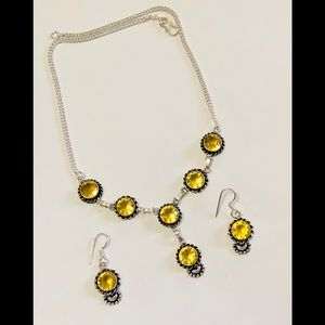 Jewelry - 🎀BRAND NEW✨CITRINE NECKLACE AND EARRING SET🎀